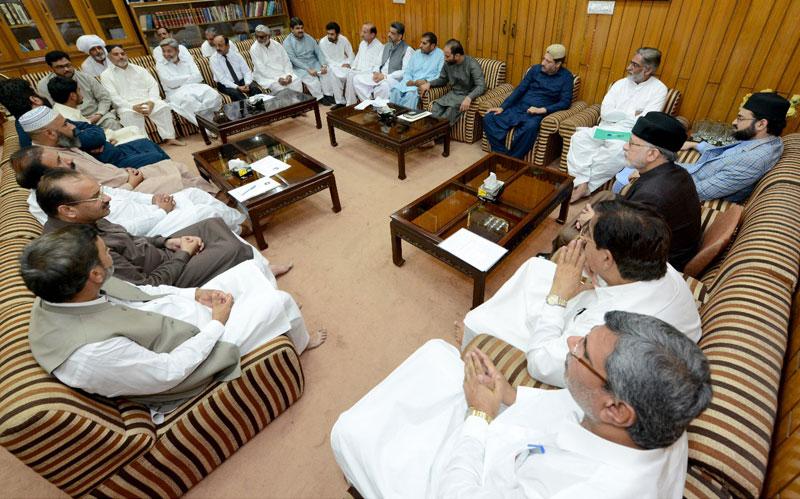 ڈاکٹر طاہرالقادری کا سنٹرل کور کمیٹی اور قومی اسمبلی کے امیدواران کے مشترکہ اجلاس سے خطاب