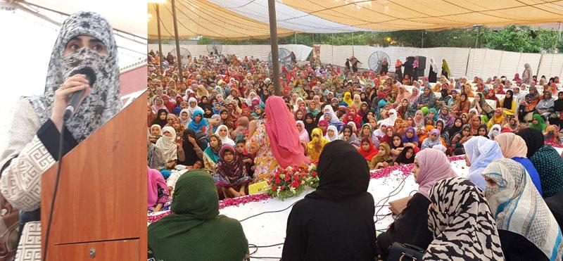 شہر اعتکاف 2018: ڈاکٹر غزالہ حسن قادری اور فضہ حسین قادری کا معتکفات سے خطاب