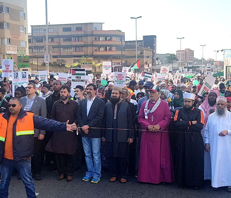 منہاج القرآن انٹرنیشنل ساوتھ افریقہ کے قائدین کی آزادی فلسطین مارچ میں شرکت