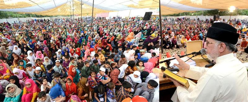 حقوق وفرائض کی ادائیگی میں عدم توازن انتشار اور بے چینی کی ایک بڑی وجہ ہے: سربراہ عوامی تحریک ڈاکٹر طاہرالقادری کاشہر اعتکاف میں خطاب