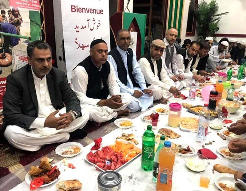 منہاج ویلفیئر فاؤنڈیشن فرانس کے زیراہتمام گرینڈ افطار ڈنر
