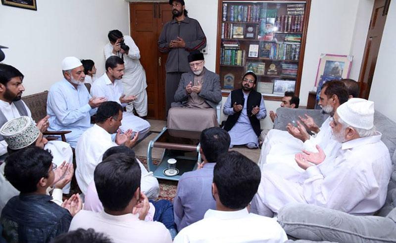شیخ الاسلام ڈاکٹر محمد طاہرالقادری کا مرحوم محمد اقبال ڈوگر کے اہل خانہ سے اظہار تعزیت