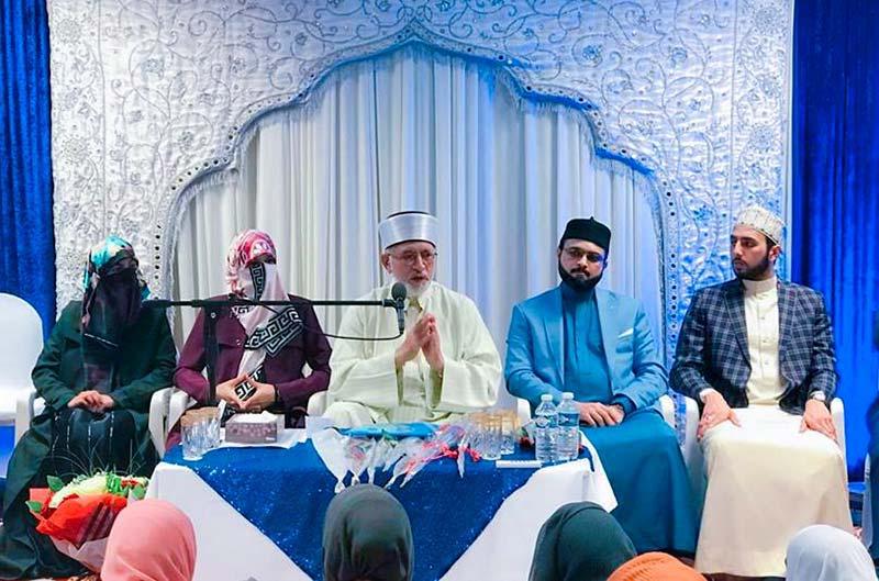 دورہ برطانیہ: شیخ الاسلام کا منہاج ویمن لیگ، منہاج سسٹرز نارتھ زون کی تنظیمی نشست میں خطاب