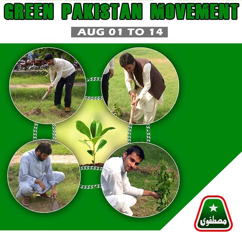 ایم ایس ایم کی ''گرین پاکستان'' شجر کاری مہم