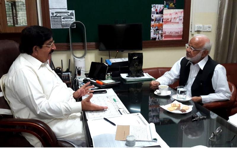PTI leader Ijaz Chadurhy calls on Khurram Nawaz Gandapur