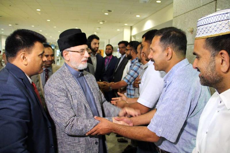 شیخ الاسلام ڈاکٹر محمد طاہرالقادری یونان پہنچ گئے، ایتھنز ائیرپورٹ پر شاندار استقبال