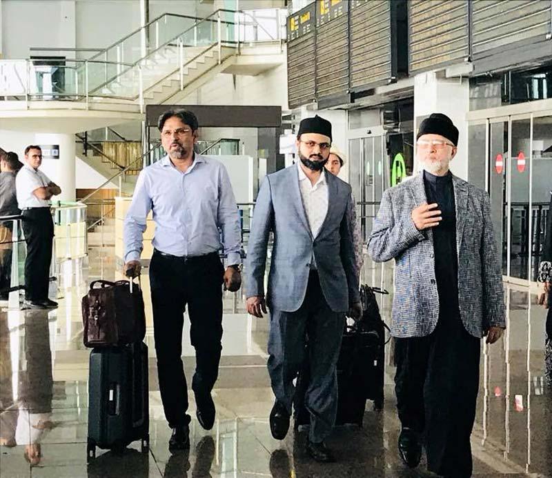 دورہ یورپ: شیخ الاسلام ڈاکٹر محمد طاہرالقادری سپین پہنچ گئے