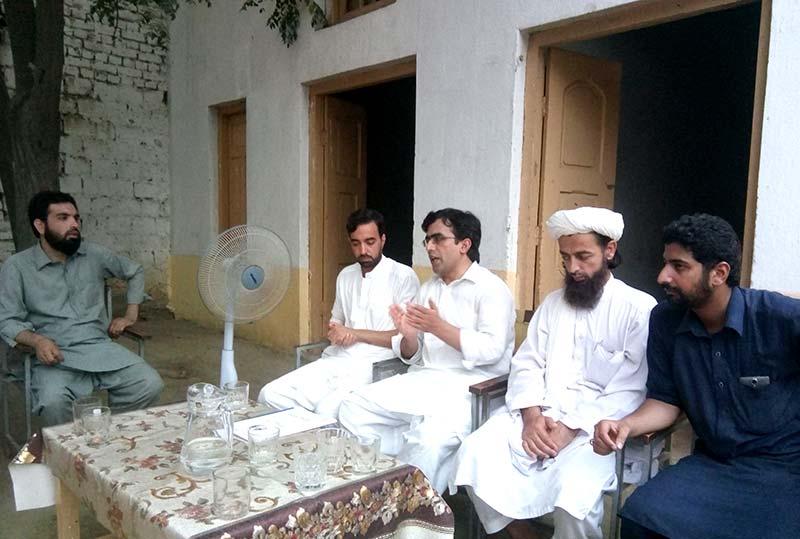 چارسدہ: منصور اعوان کا منہاج القرآن یوتھ لیگ شبقدر کا تنظیمی وزٹ