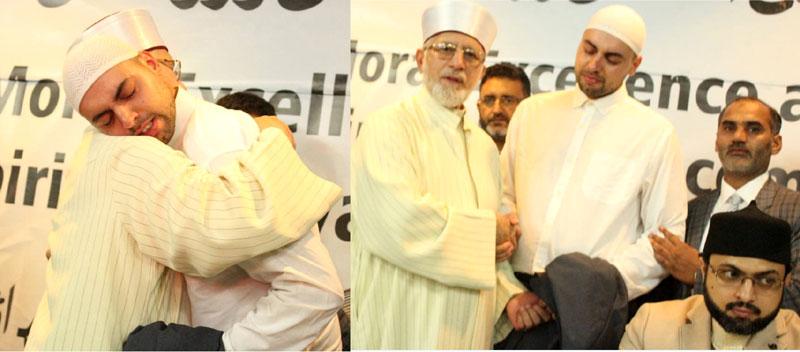 An Italian youth converts to Islam at hands of Dr Tahir-ul-Qadri