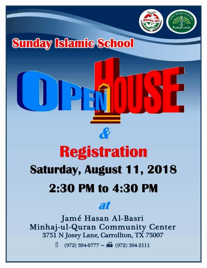 MQI USA Sunday Islamic School (Registration)