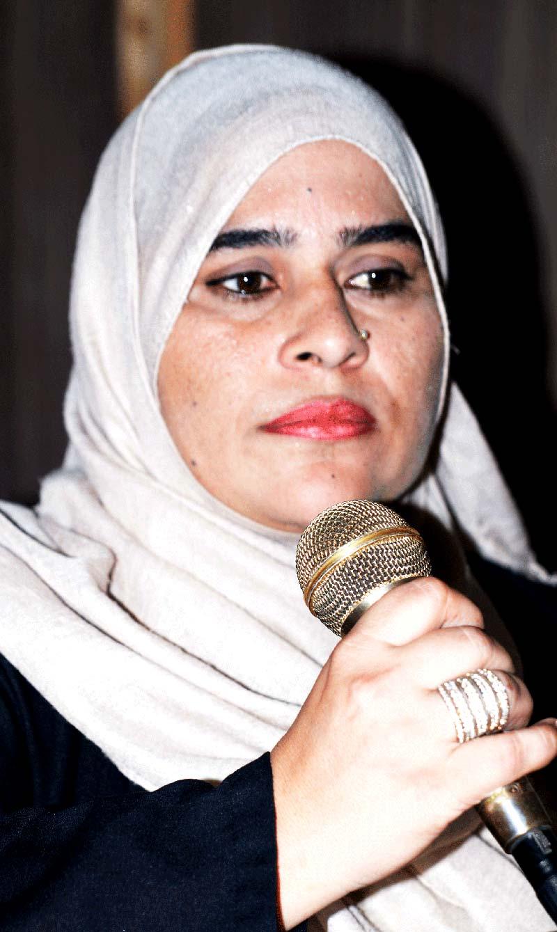 فیصل آباد: منہاج القرآن ویمن لیگ کی تقریب میں فرحت دلبر اعوان کا خطاب