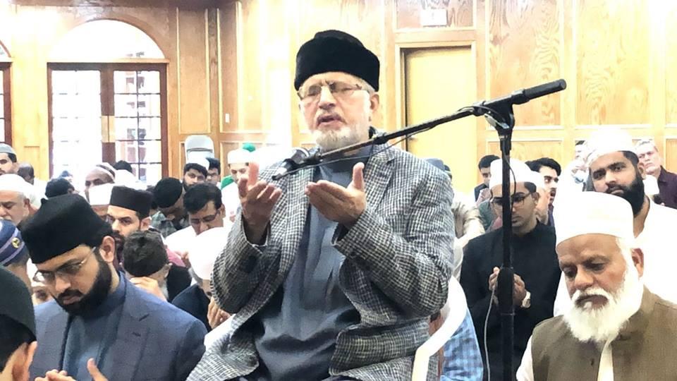 Dr Tahir-ul-Qadri offered Eid prayer in Houston