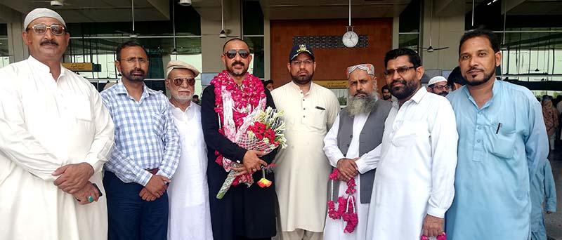 صدر تحریک منہاج القرآن ملتان یاسر ارشاد کی فریضہ حج کے بعد وطن واپسی