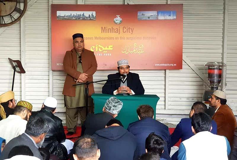 Dr Hussain Mohi-ud-Din Qadri led Eid prayers in Australia