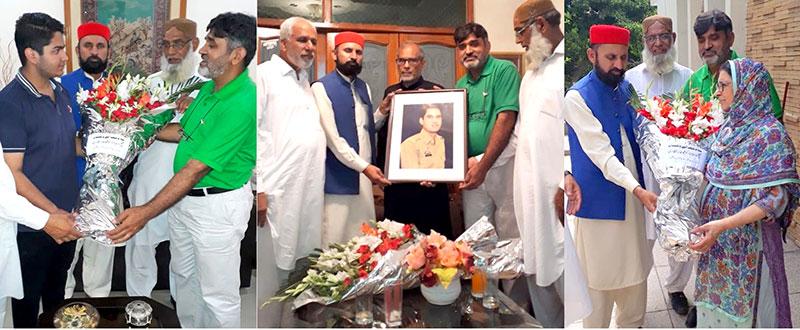 عوامی تحریک اور منہاج القرآن لاہور کے وفد کی پاک فوج کے شہداء کی فیملیز سے ملاقات