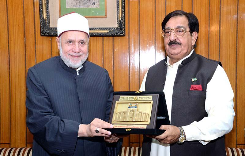 جامعہ الازہر کے الشیخ ڈاکٹر عبدالصمد محمد مھنا کا منہاج القرآن کے مرکزی سیکرٹریٹ کا دورہ