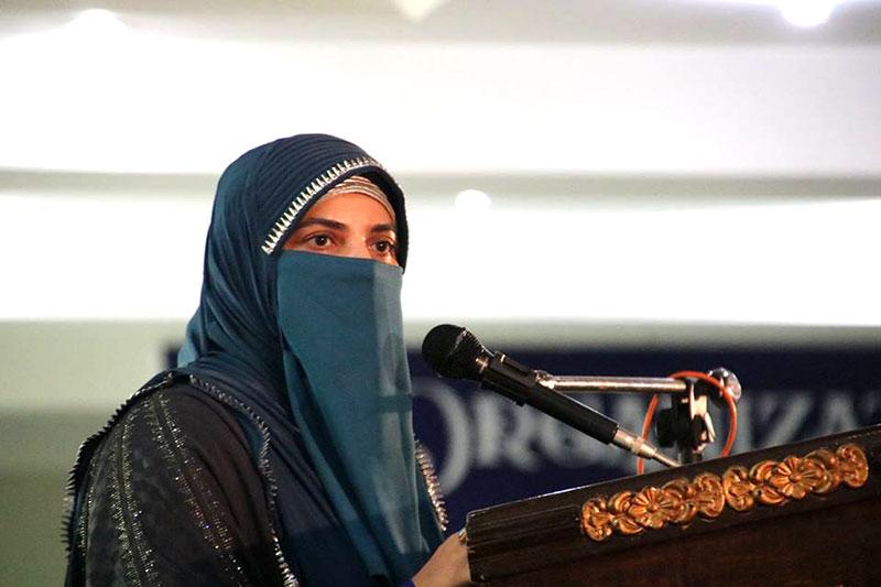 آج کی عورت سیدہ زینب سلام اللہ علیہا کے اسوہ کی خیرات کے بغیر کامیابی حاصل نہیں کر سکتی: فرح ناز