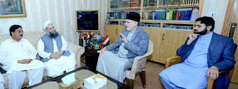 وفاقی وزیر مذہبی امور ڈاکٹر نورالحق قادری کی ڈاکٹر محمد طاہرالقادری سے ملاقات