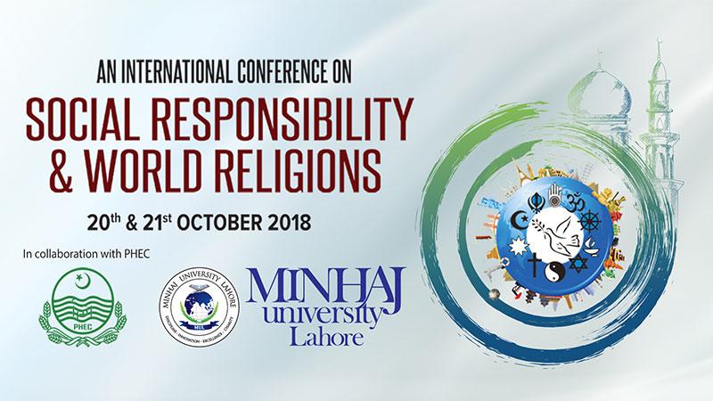 International Conference on Social Responsibility and World Religions | Minhaj University Lahore