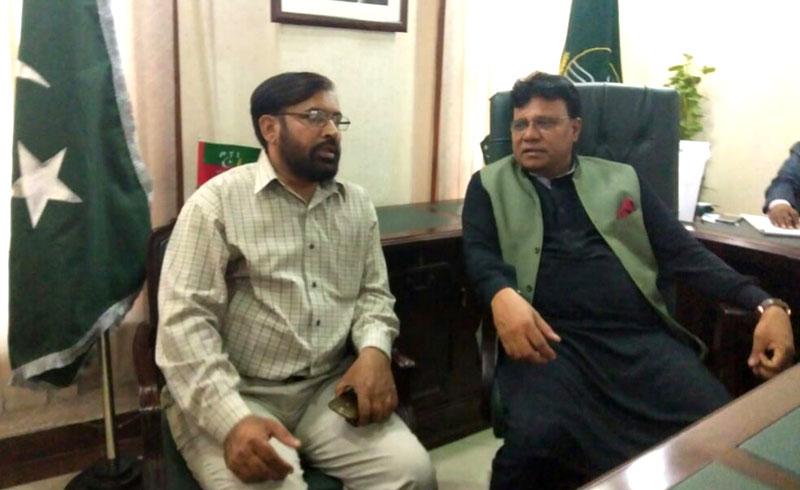 ڈائریکٹر انٹرفیتھ سہیل احمد رضا کی صوبائی وزیر اقلیتی امور اعجاز آگسٹن سے ملاقات
