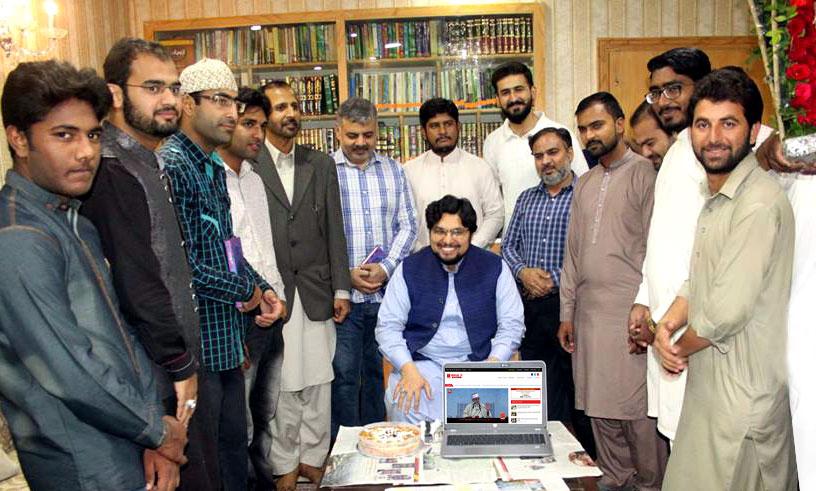 ڈاکٹر حسین محی الدین قادری نے منہاج ٹی وی کی نئی ویب سائٹ کا افتتاح کر دیا