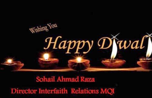 سہیل احمد رضا کی ہندو برادری کے مذہبی، سماجی اور ثقافتی تہوار دیوالی پر مبارکباد