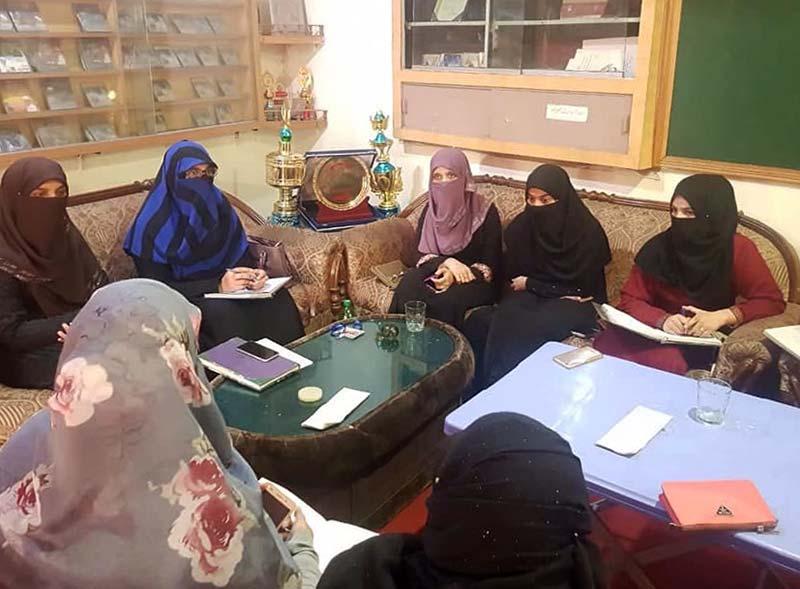 منہاج القران ویمن لیگ اور EAGERS جہلم کا اجلاس