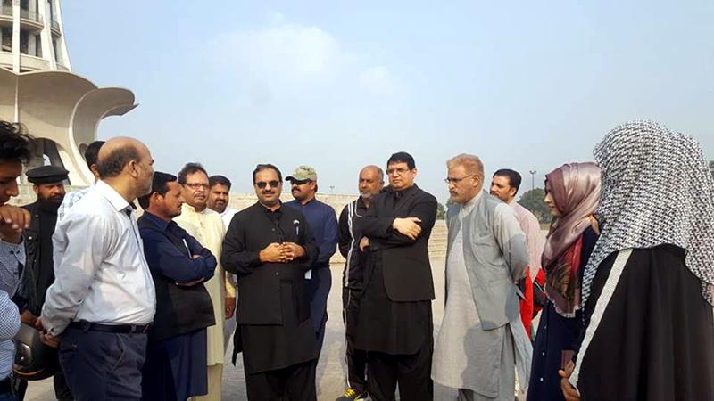 35 ویں عالمی میلاد کانفرنس: منہاج القرآن کے رہنماؤں نے مینار پاکستان کا دورہ کیا