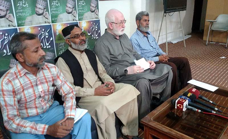 کراچی: منہاج القرآن کراچی کی میلاد مصطفیﷺ کانفرنس 17 نومبر کو ہو گی: قاضی زاہد حسین، نعیم انصاری، مرزا جنید کی پریس کانفرنس