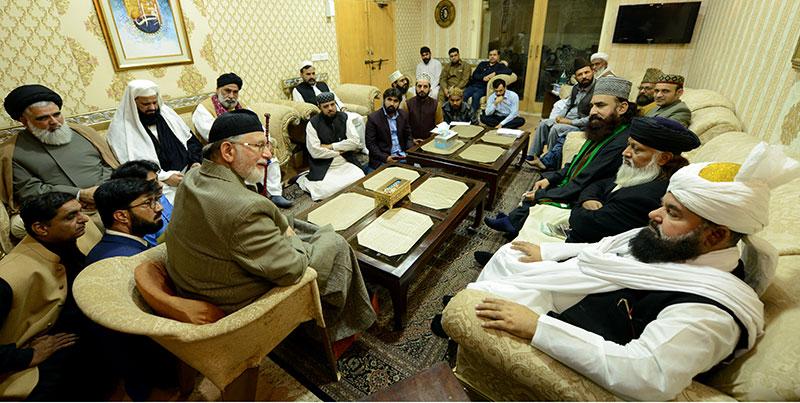 جمیعت علمائے پاکستان (نیازی) کے مرکزی صدر کی ڈاکٹر محمد طاہرالقادری سے ملاقات
