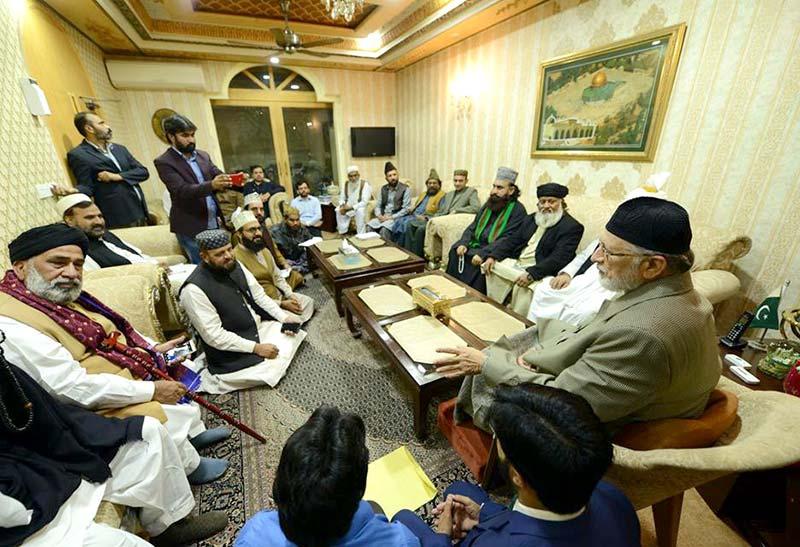 صدر جمعیت علمائے پاکستان (نیازی) پیر سید معصوم حسین نقوی اور علامہ سید جواد حیدر نقوی کی ڈاکٹر طاہرالقادری سے ملاقات