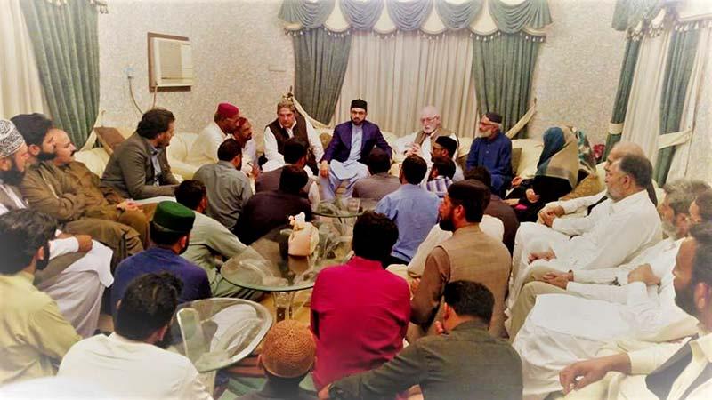 کراچی: ڈاکٹر حسن محی الدین قادری کی خواجہ ہاؤس میں تحریک منہاج القرآن کے زونل عہدیداروں سے ملاقات