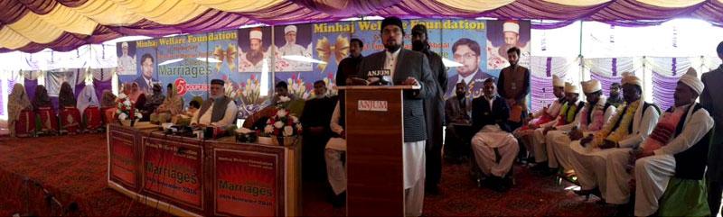 منہاج القرآن کے تحت 5 شادیوں کی سالانہ اجتماعی تقریب کا انعقاد