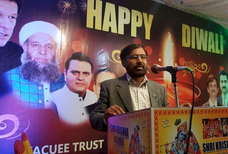 Sohail Ahmad Raza congratulates Hindu community Diwali