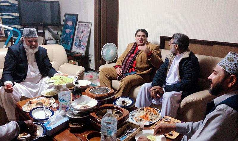 جاپان:  تحریک انصاف کے صدر کی جانب سے علامہ غلام ربانی تیمور کے اعزاز میں عشائیہ
