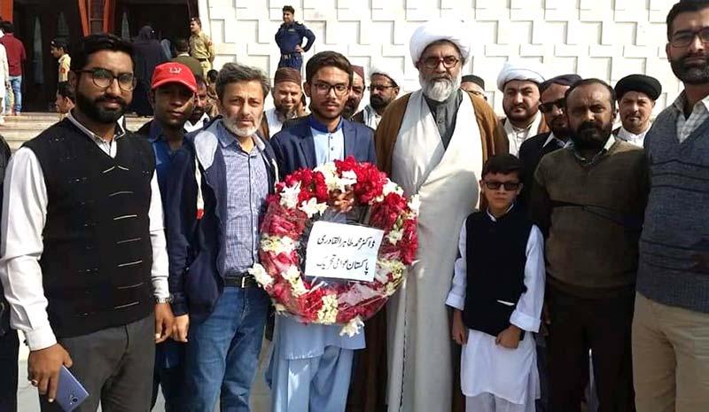 پاکستان عوامی تحریک کراچی کے وفد کی مزار قائد پر حاضری
