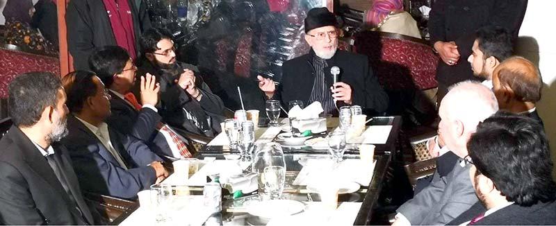 منہاج یونیورسٹی کی ورلڈ کانفرنس میں شریک بین الاقوامی معاشی ماہرین و سکالرز کے اعزاز میں عشائیہ