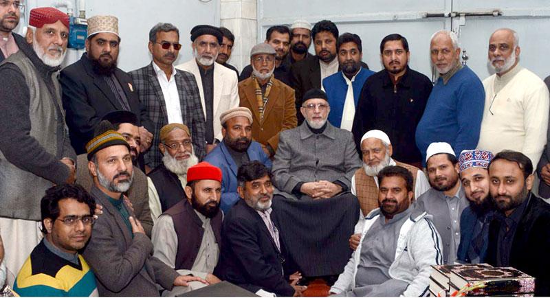 قائد تحریک منہاج القرآن کی لاہور تنظیم کے صوبائی حلقہ جات کے رہنماؤں سے ملاقات