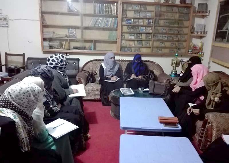 منہاج القرآن ویمن لیگ تحصیل جہلم کا ماہانہ اجلاس
