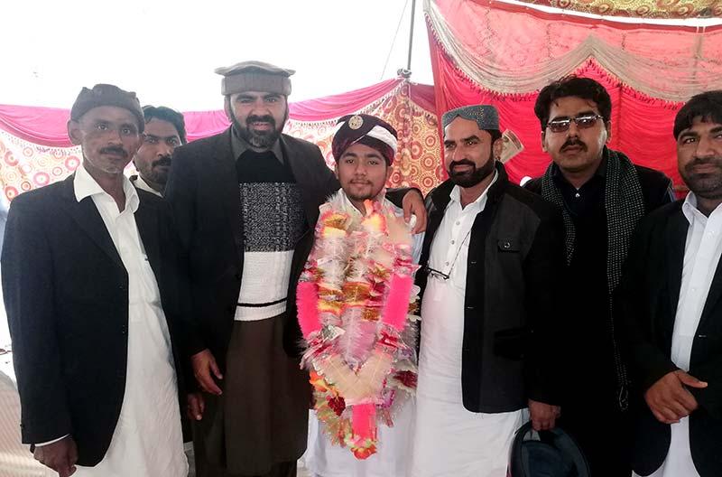 فیاض احمد جمالی شہید کے بیٹے کی شادی تقریب میں منہاج القرآن فاضل پور کے رہنماوں کی شرکت