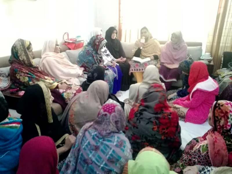 اسلام آباد: منہاج ویمن لیگ این اے 52 اور 53 کے زیراہتمام حلقہ درود