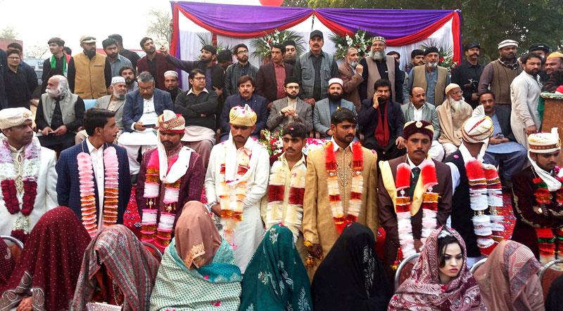 منہاج القرآن کے زیراہتمام 15 جوڑوں کی شادیوں کی اجتماعی تقریب