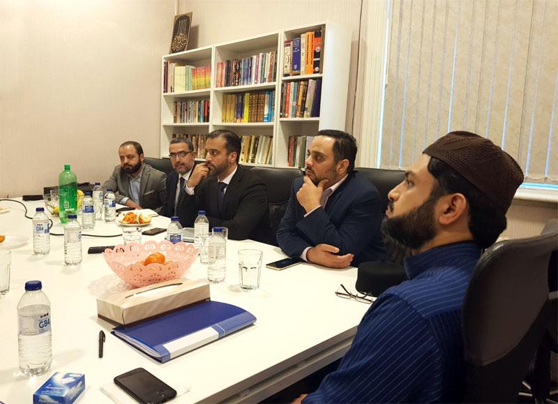 Dr Hassan Mohi-ud-Din Qadri presides over Madinat Al-Zahra's BoG meeting