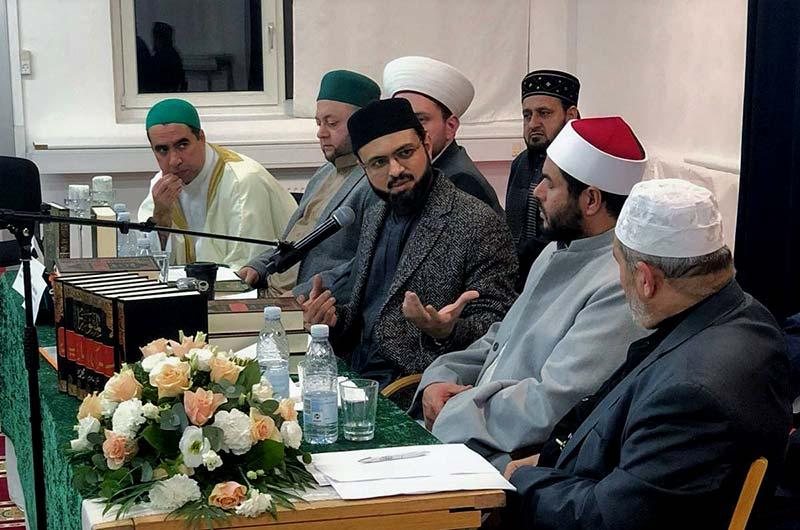 ڈنمارک: قرآنی اِنسائیکلوپیڈیا کی تعارفی تقریب میں ڈاکٹر حسن محی الدین قادری اور عرب شیوخ کی شرکت