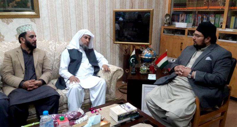 Pir Sayyid Muddassir Hussain Lasani calls on Dr Hussain Mohi-ud-Din Qadri