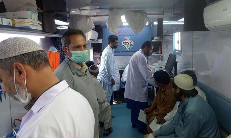 رائیونڈ میں منہاج ویلفیئر فاؤنڈیشن کا فری میڈیکل کیمپ