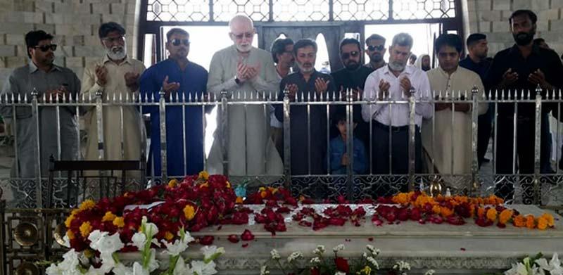 پاکستان عوامی تحریک کراچی کے قائدین کی مزار قائد پر حاضری