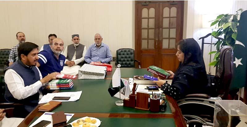 منہاج القرآن لاہور کے وفد کی ڈپٹی کمشنر لاہور صالحہ سعید سے ملاقات