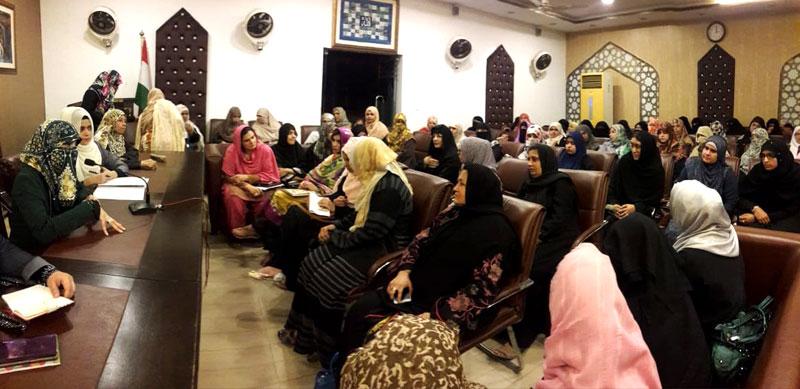 ڈاکٹر غزالہ حسن قادری سے سندھ، خیبرپختونخواہ، پنجاب کی عہدیداروں کی ملاقات