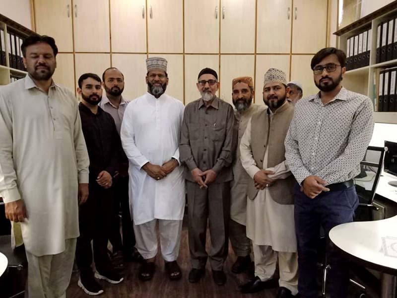 منہاج ایشیئن پیسیفک کونسل کے امیر الشیخ علامہ محمد رمضان قادری کی مرکزی سیکرٹریٹ آمد
